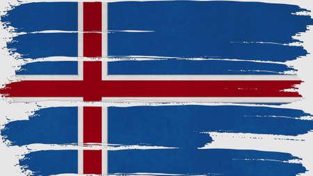 flag of iceland: iceland Flag tinted horizontal texture Foto de archivo
