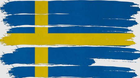 schweden flagge: Schweden-Flagge gef�rbt horizontal Textur