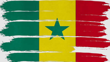 clime: senegal Flag tinted horizontal texture