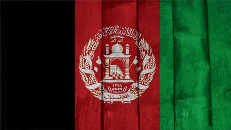 afghanistan Flag on the wood texture Stock Photo