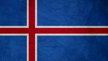 flag of iceland: textura de la bandera de islandia Papel Crepe Foto de archivo