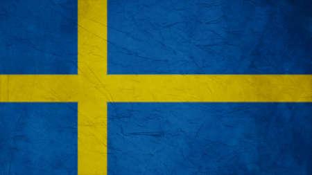 sweden flag: struttura svezia bandiera di carta di Crepe Archivio Fotografico