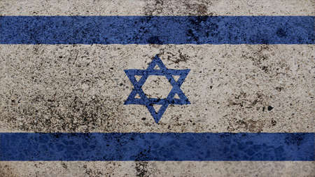 clime: israel Flag on the old wall texture Stock Photo