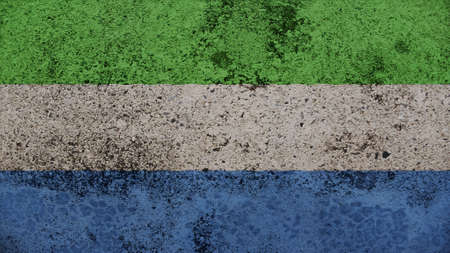 clime: sierra leone Flag on the old wall texture