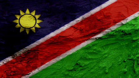 clime: Namibia Flag painting texture Stock Photo