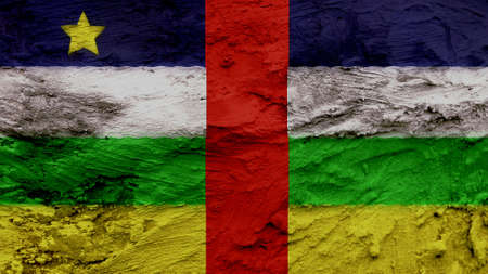clime: central african republic Flag painting texture