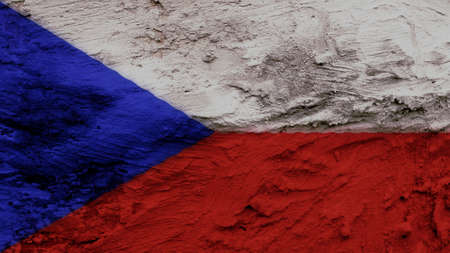 clime: czech republic Flag painting texture