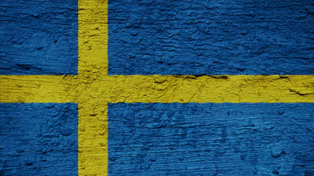clime: sweden Flag on the wall texture