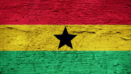 clime: ghana Flag on the wall texture
