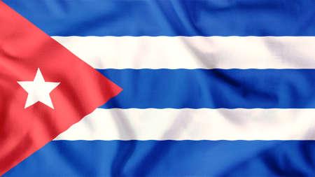 bandera cuba: bandera de Cuba ondeando colorido