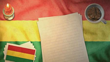 bandera de bolivia: Bandera de Bolivia y de la disposici�n de papel estilos de �poca