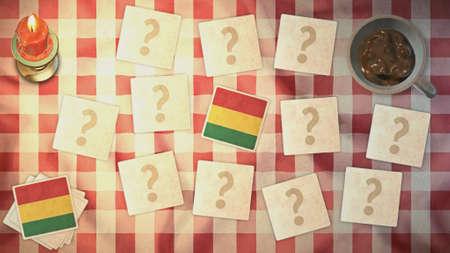 bandera de bolivia: estilos Bolivia tarjetas de juego de la bandera de la vendimia