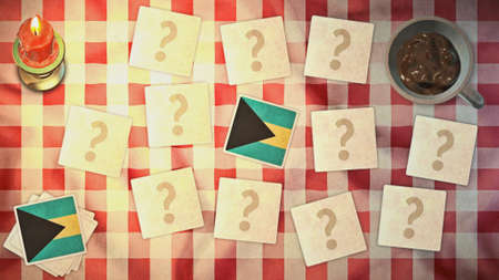 matching: estilos bahamas tarjeta a juego de la bandera de la vendimia