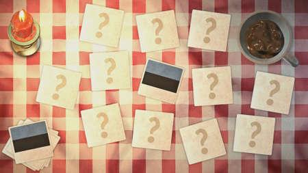 matching: estilos estonia de tarjetas a juego de la bandera de la vendimia