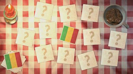 matching: estilos mali de tarjetas a juego de la bandera de la vendimia