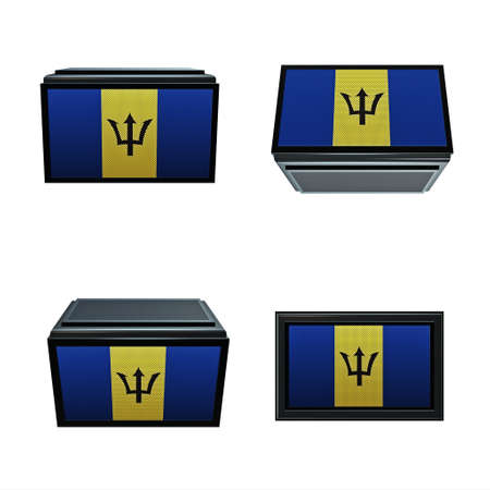 box size: barbados flags 3D Box big size set 4 in 1