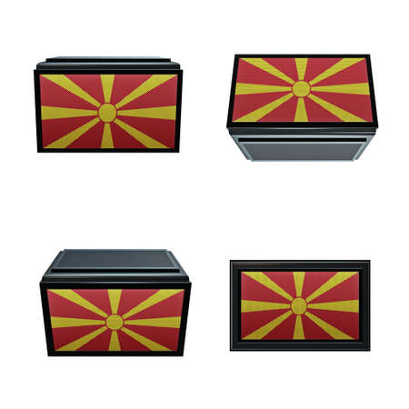box size: macedonia flags 3D Box big size set 4 in 1
