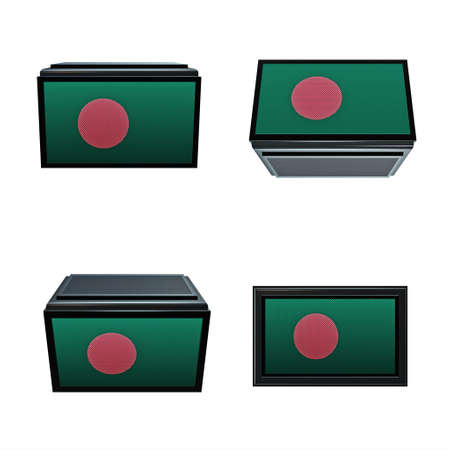 box size: bangladesh flags 3D Box big size set 4 in 1