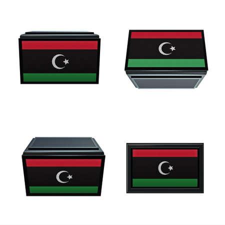 box size:  libya flags 3D Box big size set 4 in 1
