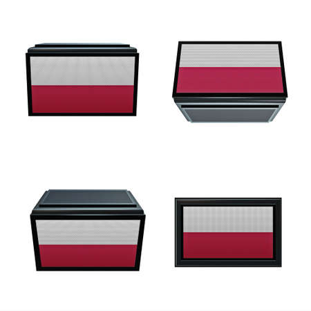 box size: poland flags 3D Box big size set 4 in 1