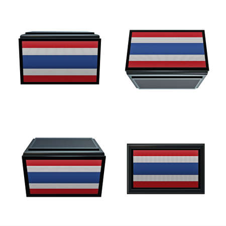 box size: thailand flags 3D Box big size set 4 in 1
