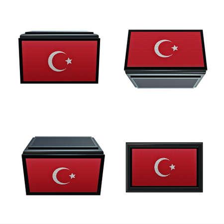 box size: turkey flags 3D Box big size set 4 in 1