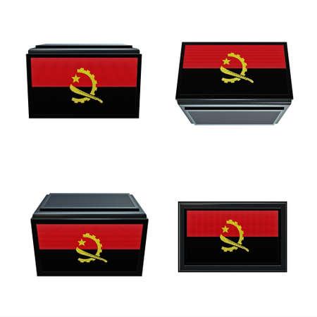box size: Angola flags 3D Box big size set 4 in 1