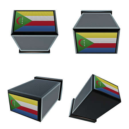 box size: comoros flags on 3D Box  big size set moving