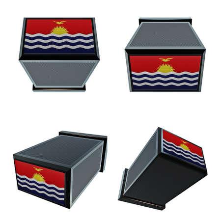 box size:  Kiribati flags on 3D Box  big size set moving