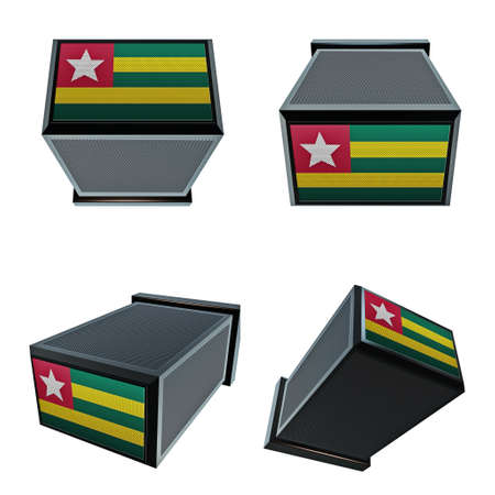 box size: togo flags on 3D Box  big size set moving