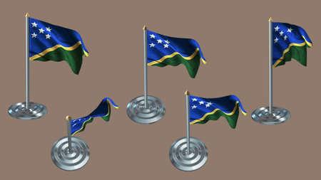 ee: solomon islands pin with aluminium texture set