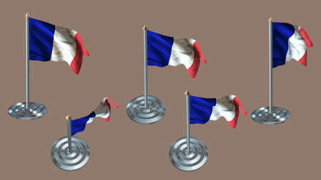 aluminium texture: france pin with aluminium texture set