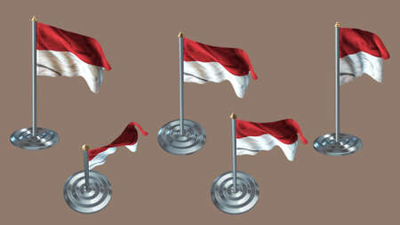 aluminium texture: indonesia pin with aluminium texture set