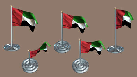 ee: united arab emirates pin with aluminium texture set