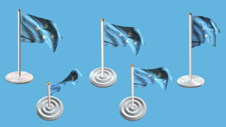 ee:  micronesia flags with white pin set multiple views