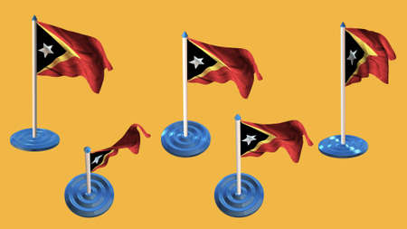 ee: east timor flags blue and white  pin with flag waving