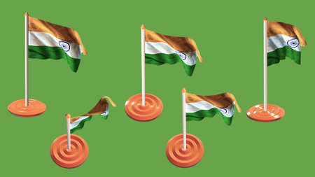 ee: india flags orange and white pin with flag waving