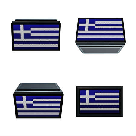 box size: greece flags 3D Box big size set 4 in 1