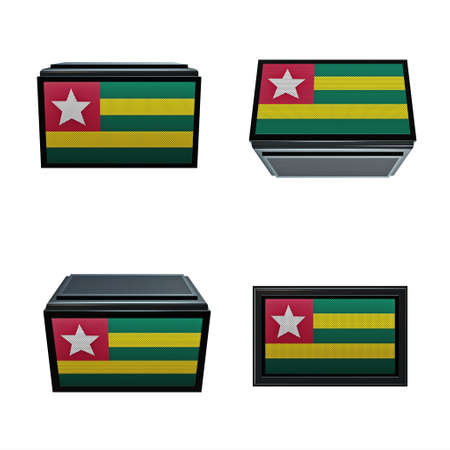 box size: togo flags 3D Box big size set 4 in 1