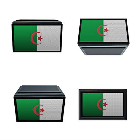 box size: algeria flags 3D Box big size set 4 in 1