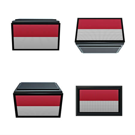 box size: indonesia flags 3D Box big size set 4 in 1