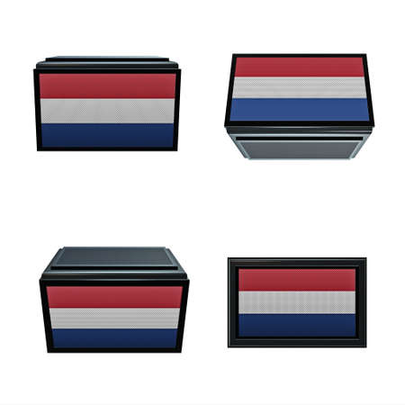 box size:  netherlands flags 3D Box big size set 4 in 1