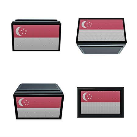 box size:  singaporeflags 3D Box big size set 4 in 1