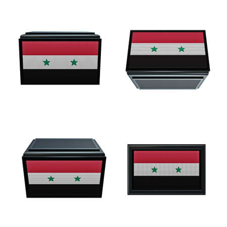 box size:  syria flags 3D Box big size set 4 in 1