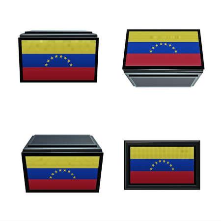 box size: venezuela  flags 3D Box big size set 4 in 1