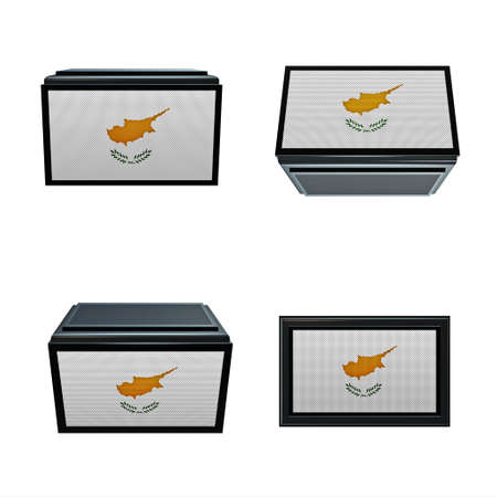 box size: Cyprus flags 3D Box big size set 4 in 1