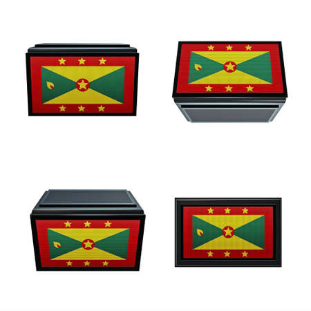 box size: Grenada flags 3D Box big size set 4 in 1