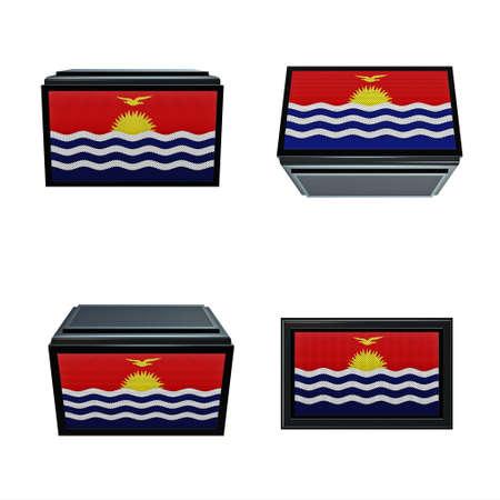 box size: Kiribati flags 3D Box big size set 4 in 1