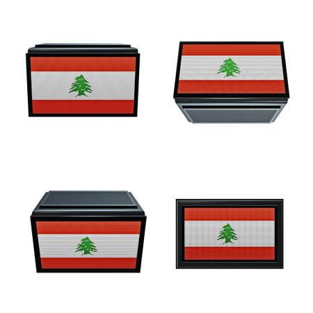box size: Lebanon flags 3D Box big size set 4 in 1
