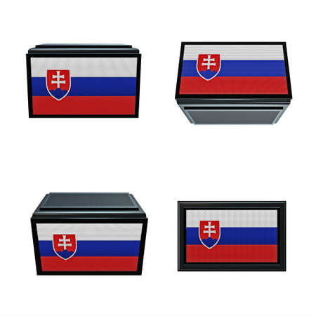 box size: Slovakia flags 3D Box big size set 4 in 1